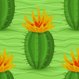 Seamless modell för kaktus Arkivfoton