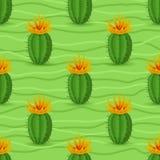 Seamless modell för kaktus Royaltyfri Fotografi