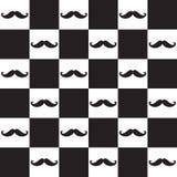 Seamless modell för mustasch Arkivbilder