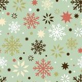 Seamless modell för Retro snowflakes stock illustrationer