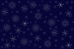 Seamless modell från snowflakes Arkivbild