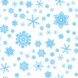 Seamless modell från snowflakes Royaltyfri Bild