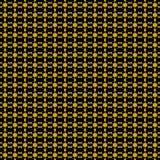 seamless modell Geometrisk abstraktion i svart och guling vektor Royaltyfria Foton