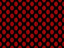 seamless modell Geometriskt diagram för abstraktion i rött på en svart bakgrund vektor Arkivfoto