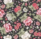 seamless modell Härliga blommande realistiska isolerade blommor Illustration för vektor för tapet för pion för tappningbakgrundsk Royaltyfri Foto