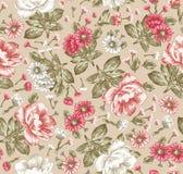 seamless modell Härliga blommande realistiska isolerade blommor Illustration för vektor för tapet för pion för tappningbakgrundsk Royaltyfria Foton