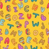 Seamless modell med alfabet Royaltyfria Bilder