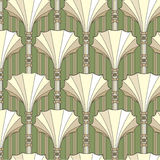 Seamless modell med beige blom- tema stock illustrationer