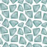 Seamless modell med diamanter Royaltyfria Bilder
