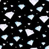 Seamless modell med diamanter Arkivbild