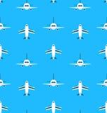 Seamless modell med flygplan Royaltyfri Fotografi