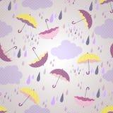 Seamless modell med paraplyer Arkivbild