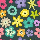 Seamless modell med pastellfärgade blommor Royaltyfri Bild