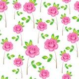 seamless modell Rosa blommor, rosor Passande som tapeten, som en g?vainpackning f?r valentin dag Skapar ett festligt lynne vektor illustrationer