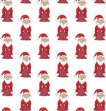 seamless modell Santa Claus som rymmer en påse med gåvor vektor vektor illustrationer