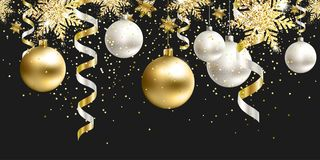 seamless modell Svart juldekor för plats royaltyfri bild