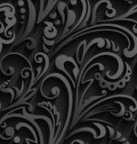 seamless modell Tappningstilbakgrund med blom- prydnader Royaltyfri Foto