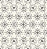 seamless modell Upprepa modern stilfull geometrisk textur med linjära rombraster, stjärnor, översiktsfyrkant vektor Arkivfoton