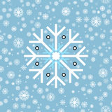 seamless modell Vintersnöflingor på blå bakgrund Royaltyfria Foton