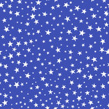 seamless modell vita blåa stjärnor för bakgrund Royaltyfri Foto