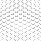 seamless modell wave Textur för fiskvåg också vektor för coreldrawillustration Urklippsbok gåvainpackningspapper, textiler svart  stock illustrationer
