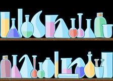 Seamless modelllaboratoriumexponeringsglas vektor illustrationer