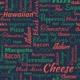 seamless modellpizza Användbart för restaurangidentiteten, packagin Royaltyfri Bild