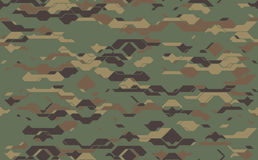 Seamless modern army camouflage fabric texture. Abstract vector futuristic camo damask Stock Photo