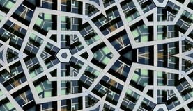 Seamless Modern Building Background. A seamless abstract pattern background made from building windows Stock Photo