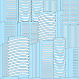 Seamless modern building background. stock  Royalty Free Stock Photography