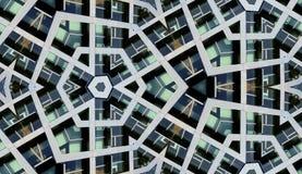 Seamless modern byggnadsbakgrund Arkivfoto