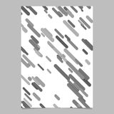 Seamless modern chaotic rounded diagonal stripe pattern brochure design template - vector stationery background design Stock Images