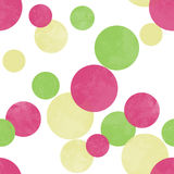 Seamless modern circles pattern Royalty Free Stock Images