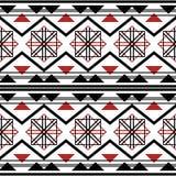 Seamless modern geometric pattern white, black, red colors royalty free illustration