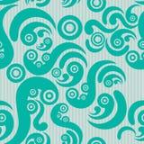 Seamless modern pattern. Seamless aquamarine modern pattern. Abstract Royalty Free Stock Photography