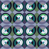 Seamless modern pattern or background with squares and circles. Stock Photography