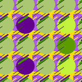 Seamless modern pattern.Green background geometry circle color fabric sample. swatch vector illustration Royalty Free Stock Photos