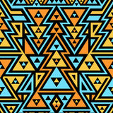 Seamless Modern Pattern. Mix of Triangles and Stripes Royalty Free Stock Photography