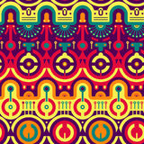 Seamless Modern Pattern in New Techno - Tribal Style Royalty Free Stock Photography