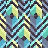 Seamless Modern Pattern with Stripes and Rhombuses Stock Photo