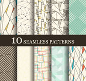 Seamless modern patterns Royalty Free Stock Image