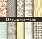 Seamless modern patterns Stock Images