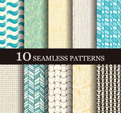 Seamless modern patterns Royalty Free Stock Photography