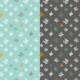 Seamless modern plant pattern vector background Stock Photo