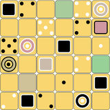 Seamless modern squares shapes pattern with domino. Elements Royalty Free Stock Images