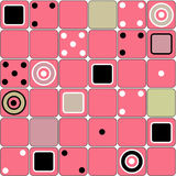 Seamless modern squares shapes pattern with domino. Elements Stock Photography