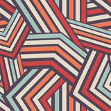 Seamless Modern Stripped Geometric Pattern Stock Image