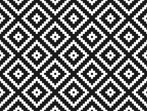 Seamless modern stylish texture and pattern. White repeating geometric tiles with dotted rhombus on a black background. Vector ill Stock Images