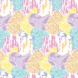 Seamless modern textured, colorful grunge pattern. Background with multi-color combinations graphic ornament. EPS10.  royalty free illustration