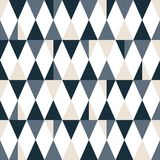 Seamless modern triangle pattern. Geometric wallpaper. royalty free illustration